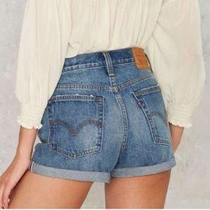 Levi's High Waisted Jean Shorts 32